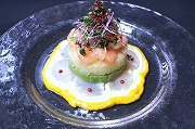 Fresh scallop, shrimp and avocado tartar