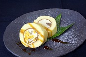 Chestnut Japanese roll cake