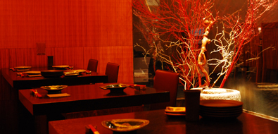 GaiGai Japanese restaurant. Two person tables
